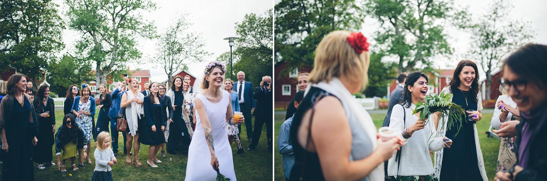 bröllop fånga bukett